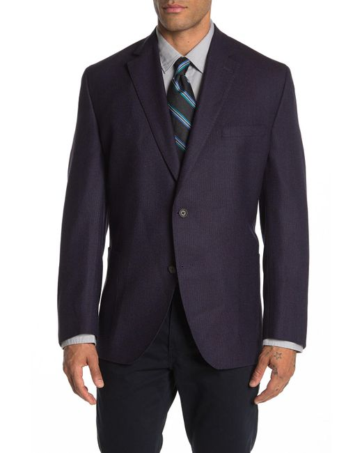 David Donahue Aiden Two Button Notch Lapel Wool Classic