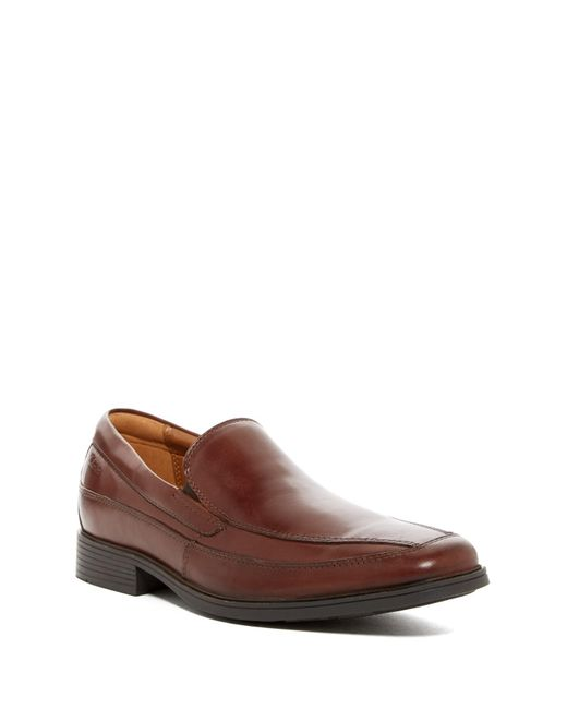 Clarks | Brown Tilden Free Slip-on Loafer - Wide Width Available for Men | Lyst
