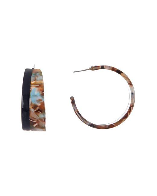 Cara - Multicolor Colorblock Tortoise 40mm Hoop Earrings - Lyst