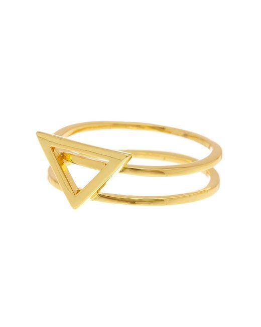 Gorjana | Metallic Anya Triangle Ring - Size 7 | Lyst