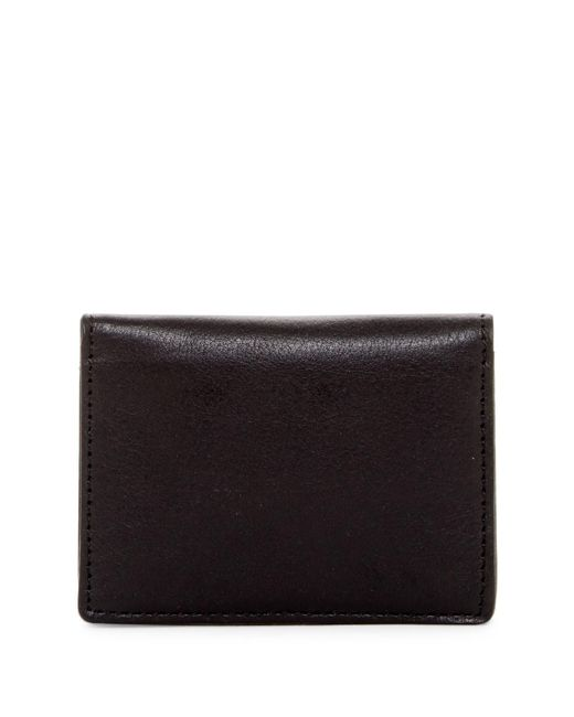 Will Leather Goods   Black Leather Cardfold for Men   Lyst