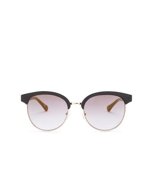 Diane von Furstenberg | Black Women's Round Clubmaster Sunglasses | Lyst