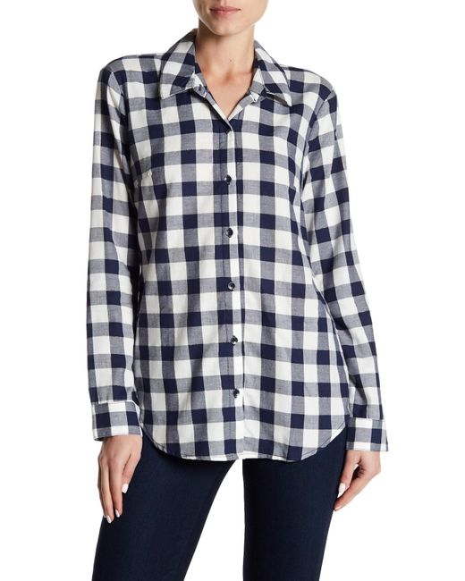 Splendid | White Plaid Shirt | Lyst
