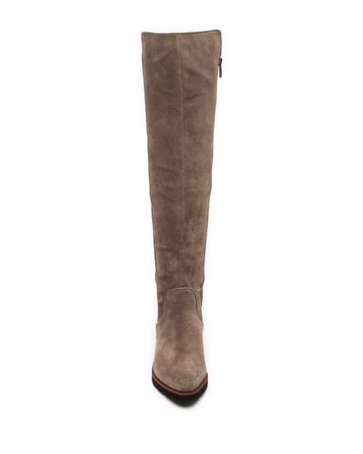 aa99fc1bcfe ... Franco Sarto - Brown Benner Leather Over-the-knee Boot - Lyst ...