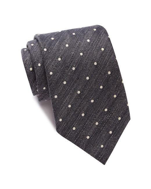 John Varvatos | Gray Polka Dot Wide Tie for Men | Lyst