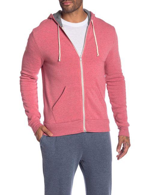 Alternative Apparel - Pink Rocky Colorblock Hoodie for Men - Lyst