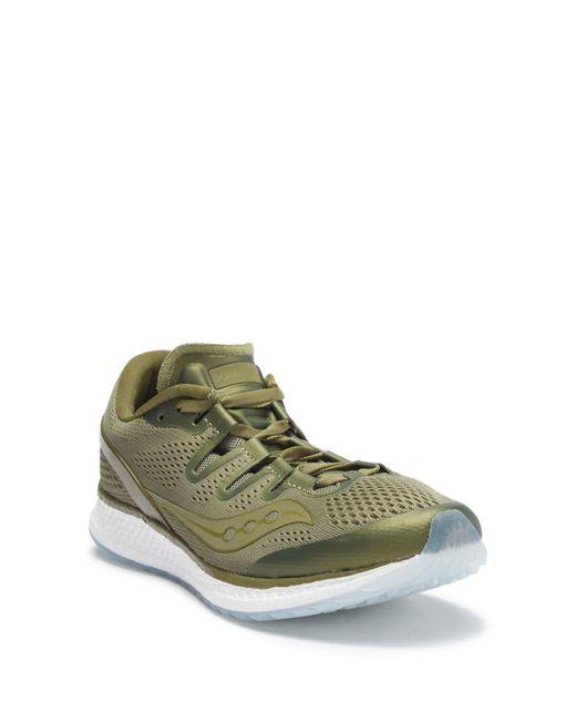20432d68b76 Saucony - Green Freedom Iso Running Sneaker for Men - Lyst ...