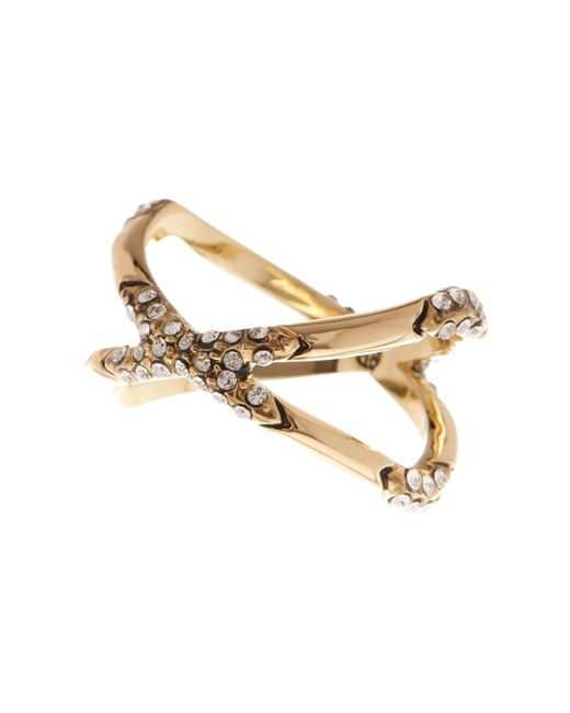 House of Harlow 1960 | Metallic Sound Waves Embellished Ring | Lyst