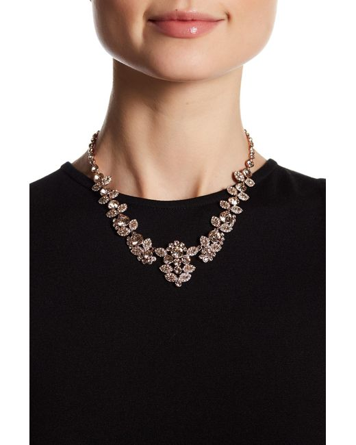 Givenchy - Black Crystal Accented Collar Necklace - Lyst