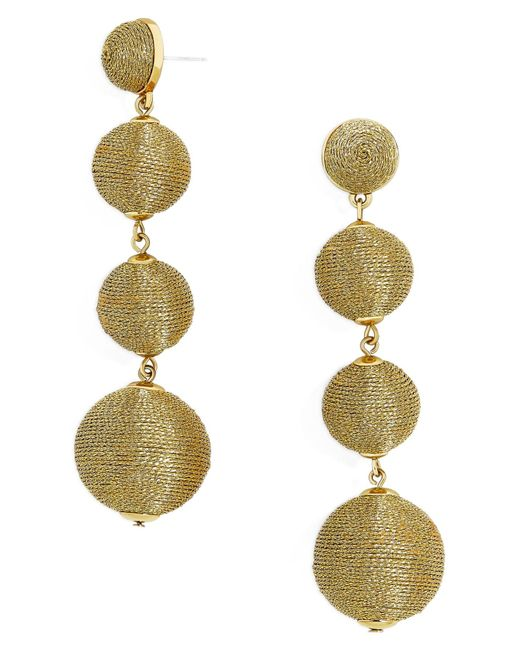 BaubleBar - Metallic Criselda Ball Shoulder Duster Earrings - Lyst