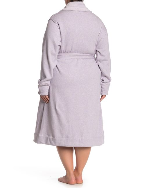 55169afe53 ... Ugg - Purple Duffield Belted Robe (plus Size) - Lyst