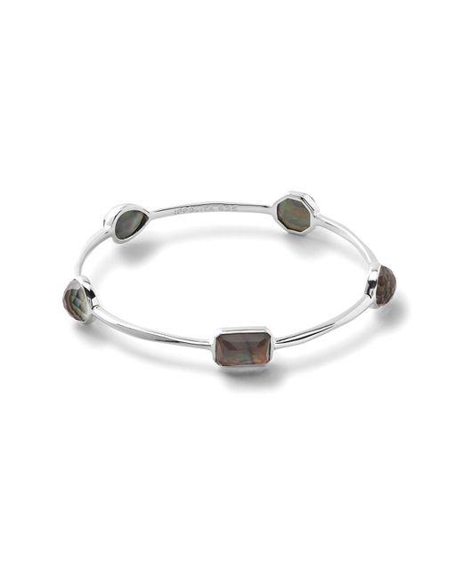 Ippolita - Metallic Rock Candy Sterling Silver Bezel Set Semi-precious Stone Station Bangle - Lyst