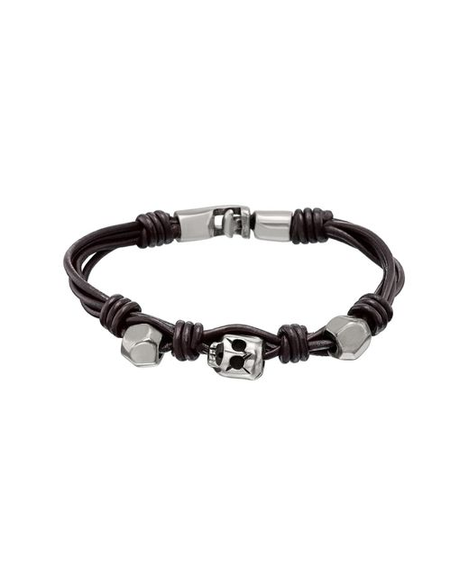 Uno De 50 | Brown Audacious Knotted Bead Leather Bracelet for Men | Lyst