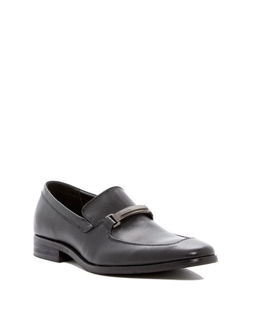 Calvin Klein | Black Rufus Embossed Loafer for Men | Lyst