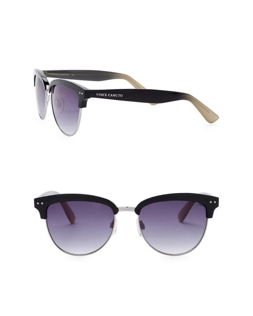 Vince Camuto - Gray Unisex Clubmaster 55mm Metal Frame Sunglasses - Lyst