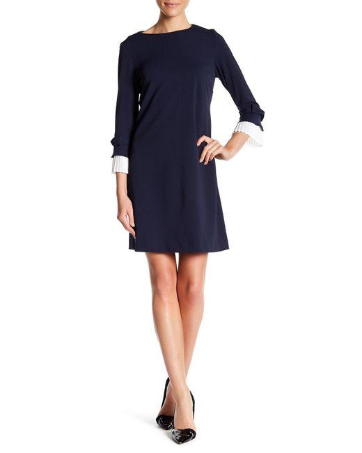 Sharagano - Blue Blouse Dress - Lyst