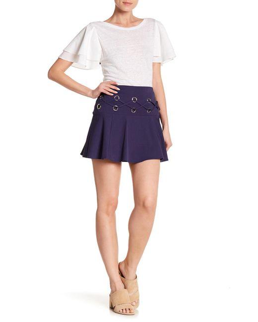 Parker - Blue Milo's Crisscross Grommet Skirt - Lyst