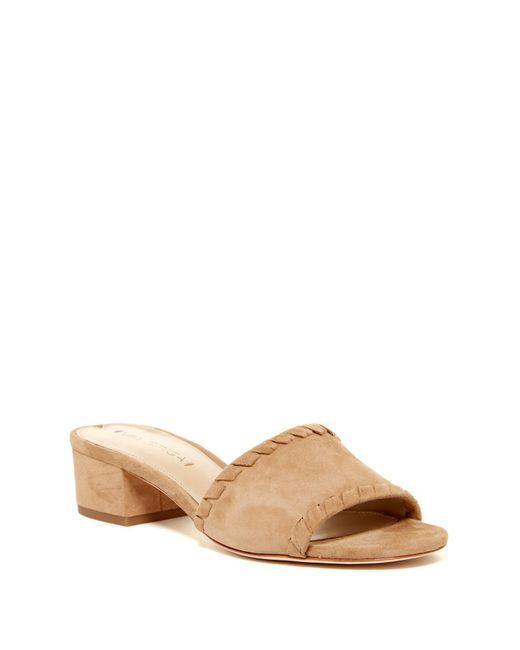 Via Spiga | Natural Gwendolyn Block Heel Side Sandal | Lyst