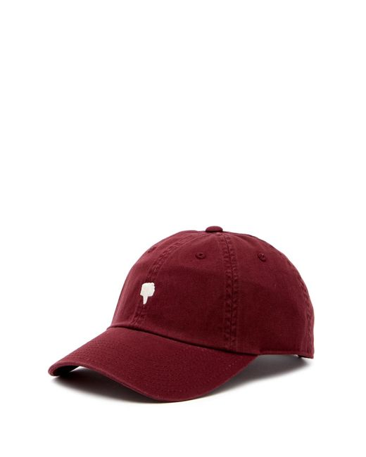 American Needle - Red Thumbs Down Micro Baseball Cap for Men - Lyst