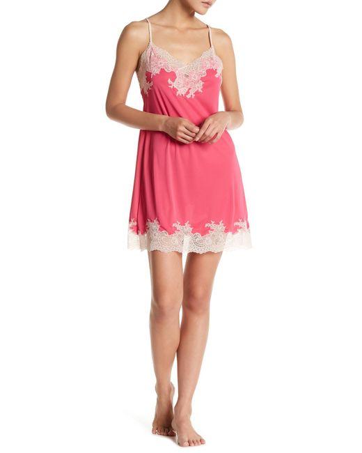 Natori | Pink Enchant Lace Chemise | Lyst