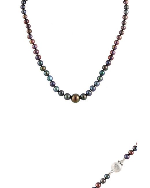 Splendid - Multicolor 7.5-8.5mm Pearl Choker Necklace & Bracelet Set - Lyst