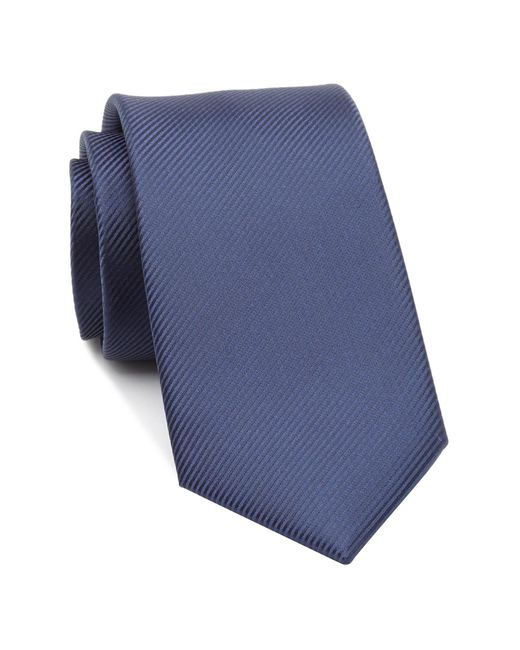 Perry Ellis - Blue Fine Line Solid Tie for Men - Lyst