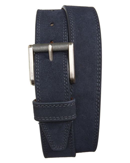 1901 - Blue Suede Belt for Men - Lyst
