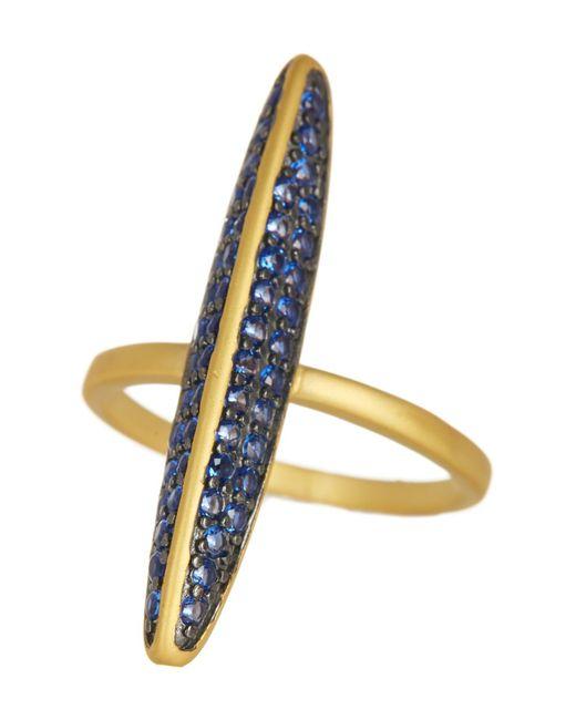 Freida Rothman - Metallic Baroque Blues Pave Marquise Ring - Lyst