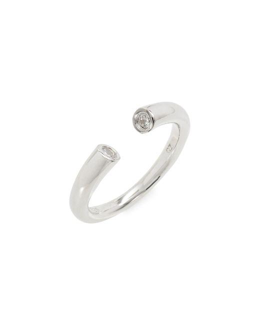 Nordstrom - Metallic Cubic Zirconia Bezel Cuff Ring - Lyst