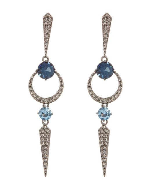 Nadri | Multicolor Gwen Linear Crystal Pave Drop Earrings | Lyst