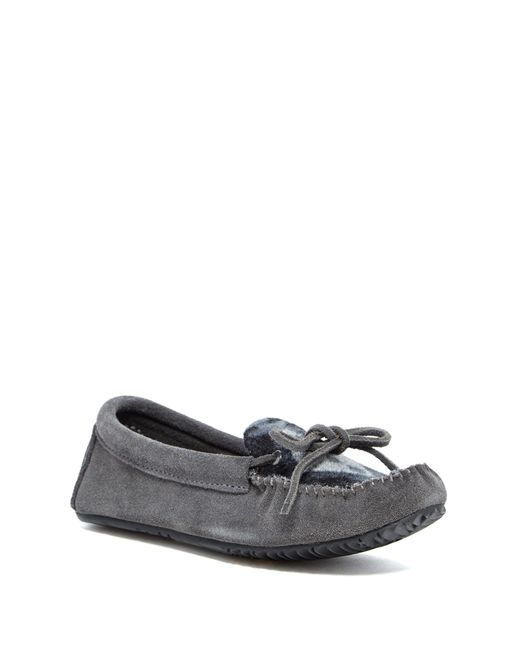 Manitobah Mukluks | Gray Wool Suede Canoe Moccasin | Lyst