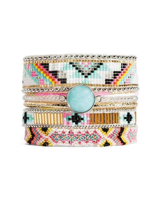 Hipanema - Metallic Cardamine Beaded Bracelet - Lyst