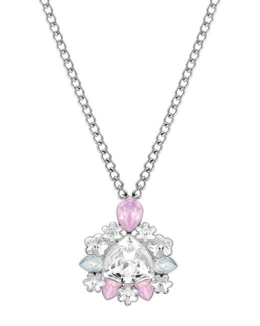 Swarovski - Metallic Crystal Pendant Necklace - Lyst