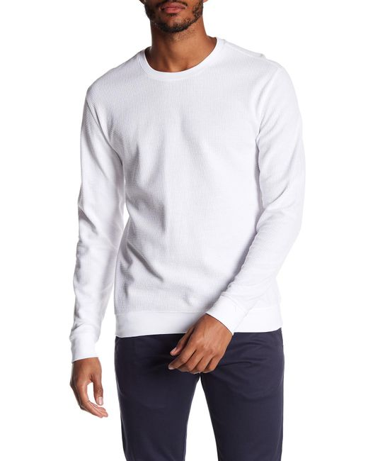 Vince - White Waffle Knit Sweater for Men - Lyst