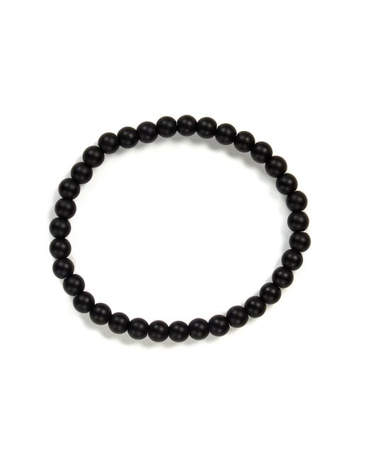 Link Up - Black Matte Onyx Beaded Stretch Bracelet for Men - Lyst