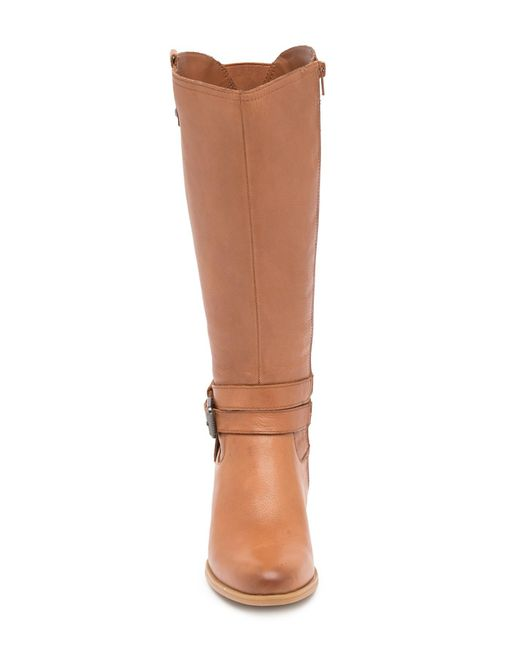 8b47355abf43 ... Naturalizer - Brown Kim Ankle Strap Leather Boot - Wide Width Available  - Lyst ...
