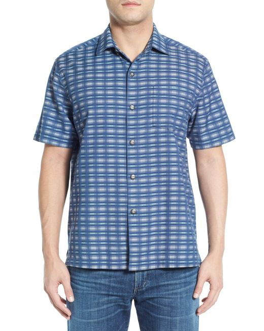 Tommy Bahama | Multicolor 'pixel In Paradise' Original Fit Short Sleeve Sport Shirt for Men | Lyst