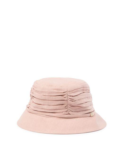 Helen Kaminski - Pink Raylyn Gathered Bucket Hat - Lyst ... 8b366de6ade6