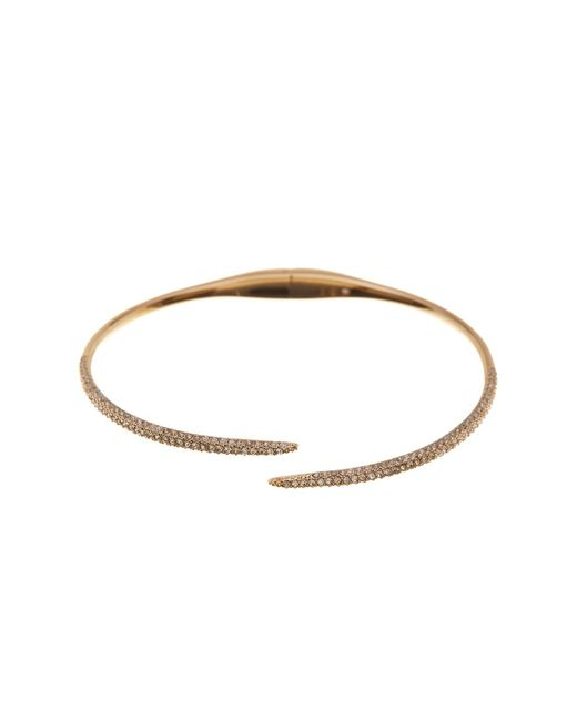 Nadri - Metallic Kate Pave Cz End Bypass Hinged Cuff Bracelet - Lyst