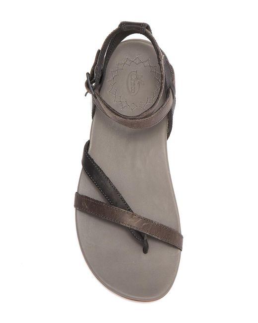 2121958f1ea8 ... Chaco - Black Juniper Leather Sandal - Lyst ...