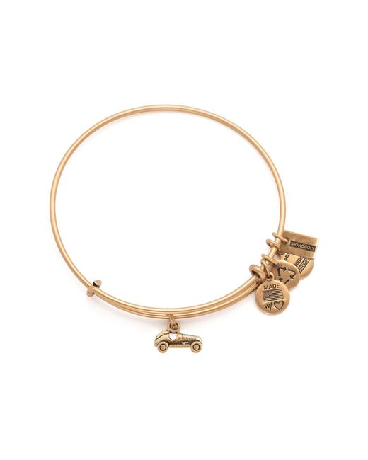 ALEX AND ANI - Metallic Monopoly Car Charm Wire Expandable Bangle - Lyst