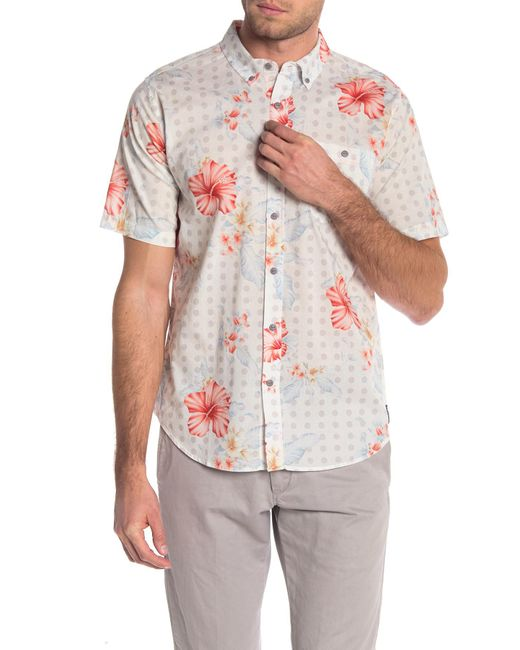 Ezekiel - White Laguna Short Sleeve Shirt for Men - Lyst