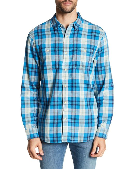 Lucky Brand | Blue Doubleweave Mason Classic Fit Workwear Shirt for Men | Lyst