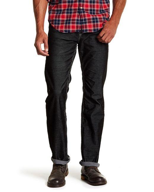 True Religion | Black Straight Leg Flap Pocket Corduroy Pants for Men | Lyst