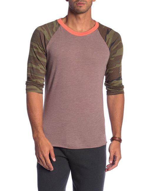 Alternative Apparel - Multicolor Printed Raglan Tee for Men - Lyst