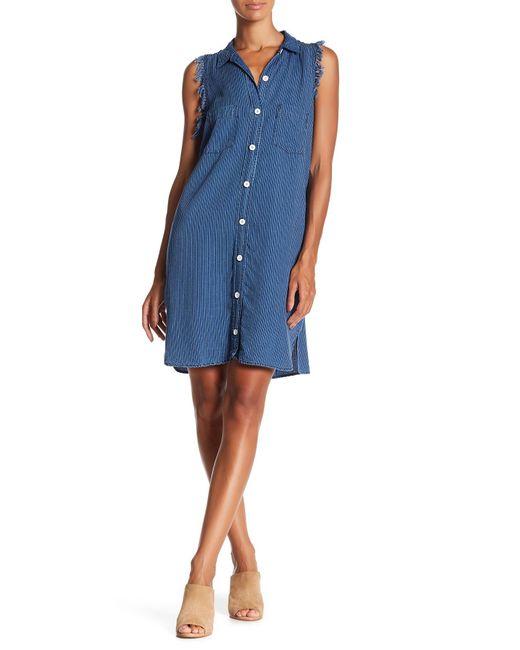 Fifteen Twenty | Blue Stripe Shirtdress | Lyst