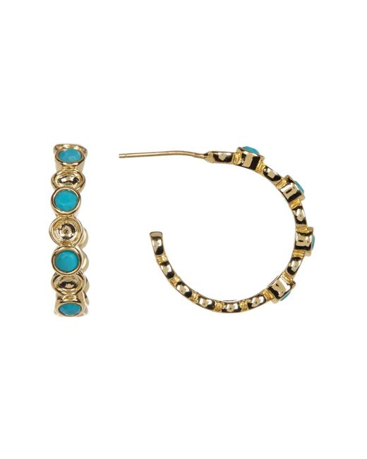 Melinda Maria | Metallic Penelope Mixed Turquoise Mini C-hoop Earrings | Lyst