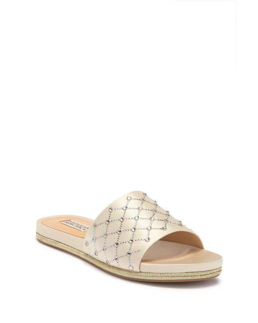 Badgley Mischka - Multicolor Shayna Jeweled Slide Sandal - Lyst