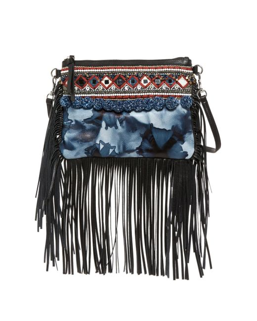 Rebecca Minkoff - Blue Dreamy Fringed Crossbody Bag - Lyst