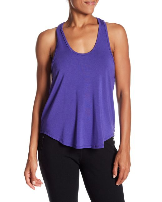 Karma - Purple Colette Twisted Racerback Tank - Lyst